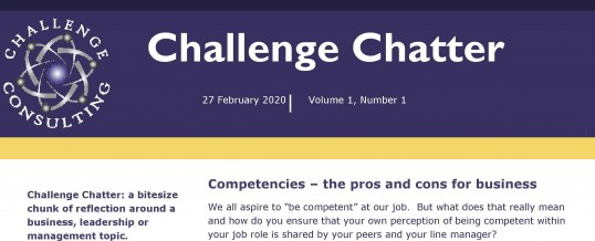 Launch of Challenge Chatter – our monthly fact sheet on a topical training area